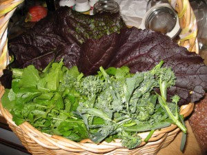 basket of greens